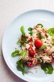 Ogrodowy świeży pomidor i orzo sałatka Zdjęcia Royalty Free