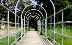 Ogrodowy Bridżowy widok Obraz Royalty Free