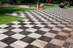Ogrodowy drewniany bruk Zdjęcie Royalty Free
