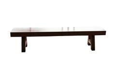 Ogrodowy drewniany krzesło obraz stock