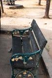 Ogrodowy drewniany krzesło fotografia royalty free