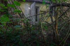 ogrodowy drzwi dom w lesie fotografia royalty free