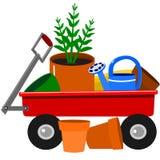 ogrodowy furgon ilustracji