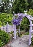 Ogrodowy Gateat Wilmington arboretum Zdjęcie Royalty Free