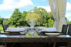 Ogrodowy gość restauracji Fotografia Royalty Free