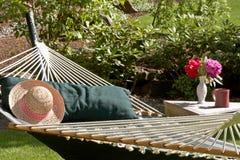 ogrodowy hamak Zdjęcia Royalty Free