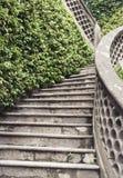 Ogrodowy kamienny schody Fotografia Royalty Free