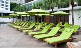 Ogrodowy krzesło w hard rock hotelu Pattaya Fotografia Royalty Free