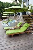 Ogrodowy krzesło w hard rock hotelu Pattaya Zdjęcie Royalty Free