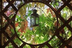 ogrodowy lampion Fotografia Royalty Free