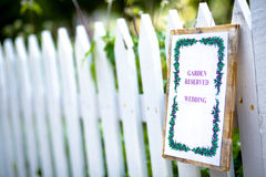 ogrodowy ślub Fotografia Royalty Free