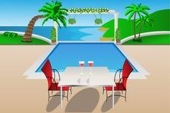 ogrodowy luksusowy basen Obrazy Royalty Free