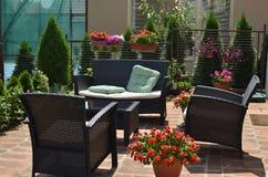 Ogrodowy meble w podwórku Obrazy Stock