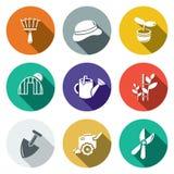 Ogrodowy płaski ikona set royalty ilustracja