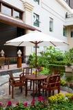 ogrodowy patio Zdjęcia Royalty Free
