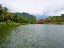 Ogrodowy społeczeństwo w Vajiralongkorn tamie Zdjęcia Royalty Free