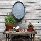 Ogrodowy stół Zdjęcia Stock