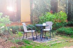 Ogrodowy stołu set Obraz Royalty Free