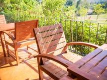 Ogrodowy stołu set Zdjęcia Stock