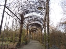 Ogrodowy tunel Obrazy Royalty Free