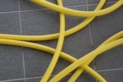Ogrodowy wąż elastyczny dla nawadniać Fotografia Royalty Free