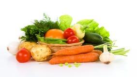 Ogrodowy warzywo nad bielem fotografia royalty free