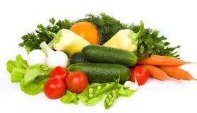 Ogrodowy warzywo odizolowywający nad bielem fotografia stock