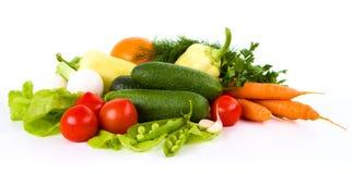 Ogrodowy warzywo odizolowywający nad bielem Obrazy Stock