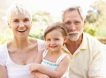 ogrodowy wnuczki dziadków target258_0_ Zdjęcia Royalty Free