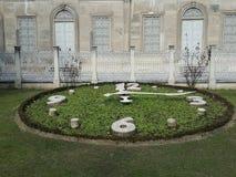 Ogrodowy zegar zdjęcie royalty free