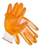 ogrodowych rękawiczek pomarańczowa odporna woda Zdjęcie Royalty Free