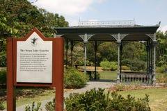 ogrody botaniczne podpisują Singapore Zdjęcia Stock