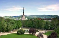 ogrody pałacu królewskiego Turin obraz stock