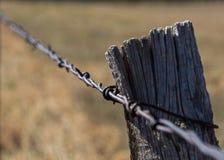 ogrodzenie barbed przewód Obraz Royalty Free