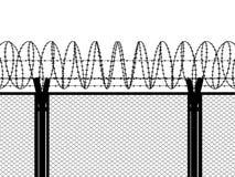ogrodzenie barbed przewód Obrazy Stock