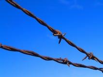 ogrodzenie barbed przewód Fotografia Royalty Free