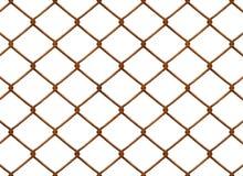 ogrodzenie chainlink rusty Zdjęcia Royalty Free