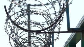 ogrodzenie drut Więzienia ogrodzenie zbiory wideo