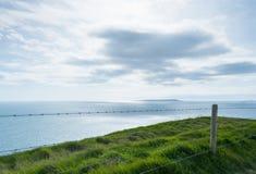 Ogrodzenie falezami Jurajski wybrzeże Obraz Royalty Free