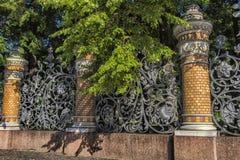 Ogrodzenie Mikhailovsky ogród Obraz Stock