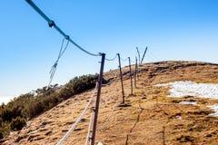 Ogrodzenie na odgórnym ot góra Obraz Stock
