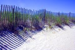 ogrodzenie na plaży Zdjęcia Royalty Free