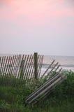 ogrodzenie na plaży Obraz Royalty Free