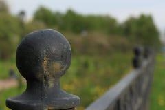 Ogrodzenie na quay Fotografia Stock