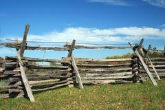 ogrodzenie stack drewna Zdjęcia Royalty Free