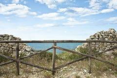 ogrodzenie stonewall drewnianego Fotografia Stock