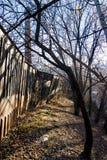 Ogrodzenie w lesie obrazy royalty free