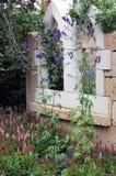 Ogrodzenie w ogródzie Zdjęcia Royalty Free