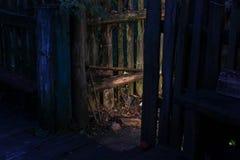 Ogrodzenie w wiosce Obraz Royalty Free