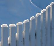 Ogrodzenie w zima krajobrazie Obrazy Royalty Free